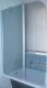 Стеклянная шторка для ванны Coliseum SC-02 (прозрачное стекло) -