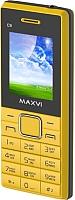 Мобильный телефон Maxvi C9 (желтый/черный) -