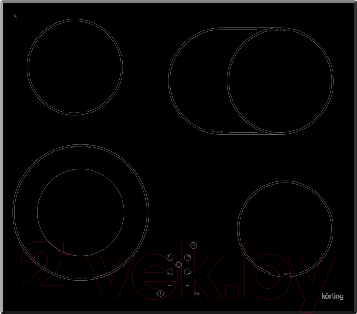 Купить Электрическая варочная панель Korting, HK 62051 B, Италия