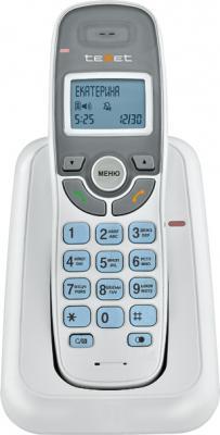 Беспроводной телефон Texet TX-D6905A (белый) - вид спереди