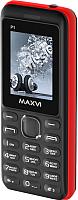 Мобильный телефон Maxvi P1 (черный/красный) -