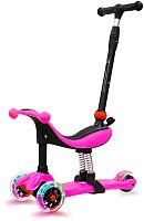 Самокат Sundays KB09-1 (розовый, светящиеся колеса) -