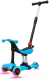 Самокат Sundays KB09-2 (голубой, светящиеся колеса) -