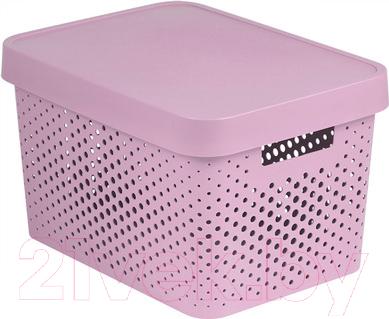 Купить Ящик для хранения Curver, Infinity 04742-X51-00 / 229152 (розовый), Польша, пластик