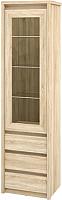 Шкаф-пенал с витриной Мебель-Неман Палермо МН-033-04 (дуб сонома) -