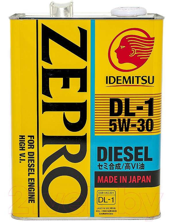 Купить Моторное масло Idemitsu, Zepro Diesel 5W30 DL-1 / 2156041 (4л), Сингапур