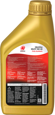 Моторное масло Idemitsu 5W40 SN/CF / 30015046-724 (1л)