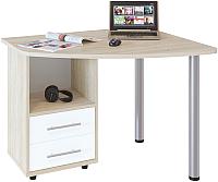 Письменный стол Сокол-Мебель КСТ-102 (левый, дуб сонома/белый) -