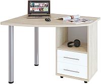 Письменный стол Сокол-Мебель КСТ-102 (правый, дуб сонома/белый) -