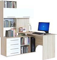 Компьютерный стол Сокол-Мебель КСТ-14 (левый, дуб сонома/белый) -
