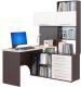 Компьютерный стол Сокол-Мебель КСТ-14 (правый, венге/беленый дуб) -