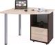 Письменный стол Сокол-Мебель КСТ-102 (правый, венге/беленый дуб) -