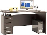 Письменный стол Сокол-Мебель КСТ-104.1 (левый, венге) -