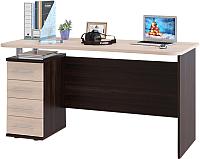 Письменный стол Сокол-Мебель КСТ-105.1 (венге/беленый дуб) -