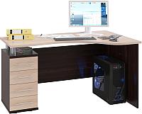 Письменный стол Сокол-Мебель КСТ-104.1 (левый, венге/беленый дуб) -