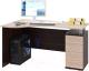 Письменный стол Сокол-Мебель КСТ-104.1 (правый, венге/беленый дуб) -