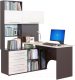 Компьютерный стол Сокол-Мебель КСТ-14 (левый, венге/беленый дуб) -