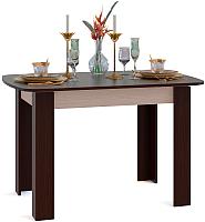 Обеденный стол Сокол-Мебель СО-3 (беленый дуб/венге) -