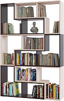Стеллаж Сокол-Мебель Из 6 модулей (беленый дуб/венге) -