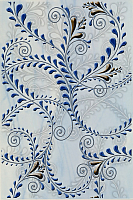Декоративная плитка Березакерамика Елена каприз синий (200x300) -