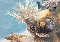 Элемент панно Березакерамика Лазурь Морской мир 9 бирюзовый (250x350) -