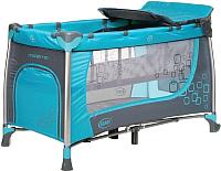 Кровать-манеж 4Baby Moderno (голубой) -