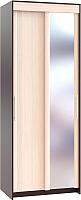 Шкаф Сокол-Мебель ШР-94.2 с зеркалом (венге/беленый дуб) -