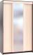Шкаф Сокол-Мебель ШР-156.2 с зеркалом (венге/беленый дуб) -