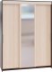 Шкаф Сокол-Мебель ШР-186.32 с зеркалом (венге/беленый дуб) -
