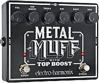 Педаль электрогитарная Electro-Harmonix Metal Muff w/Top Boost -