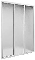 Стеклянная шторка для ванны BAS Бриз 3 створки 150x145 -