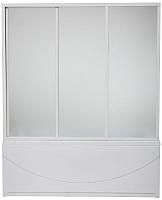 Стеклянная шторка для ванны BAS 3 створки 170x145 -