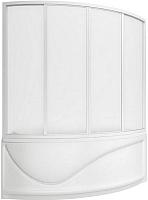 Пластиковая шторка для ванны BAS Николь 170x104 -
