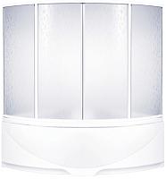 Пластиковая шторка для ванны BAS Дрова 145 -
