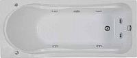 Ванна акриловая BAS Мальта 170x75 (с гидромассажем Flat Brass) -