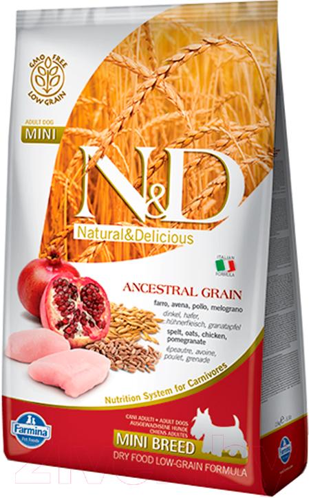 Купить Корм для собак Farmina, N&D Low Grain Chicken & Pomegranate Adult Mini (2.5кг), Италия