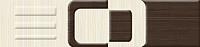 Бордюр Golden Tile Вельвет Л61321 (250x60, бежевый) -