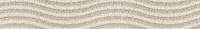Бордюр Golden Tile Summer Stone Wave В41401 (400x60, бежевый ) -