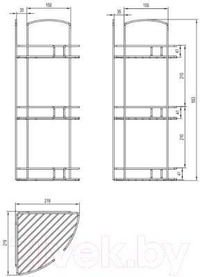 Полка для ванной Milardo 111WC30M44
