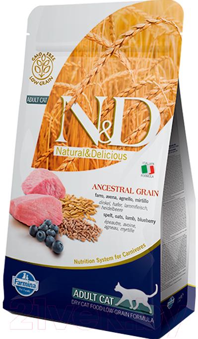 Купить Корм для кошек Farmina, N&D Low Grain Lamb & Blueberry Adult (5кг), Италия