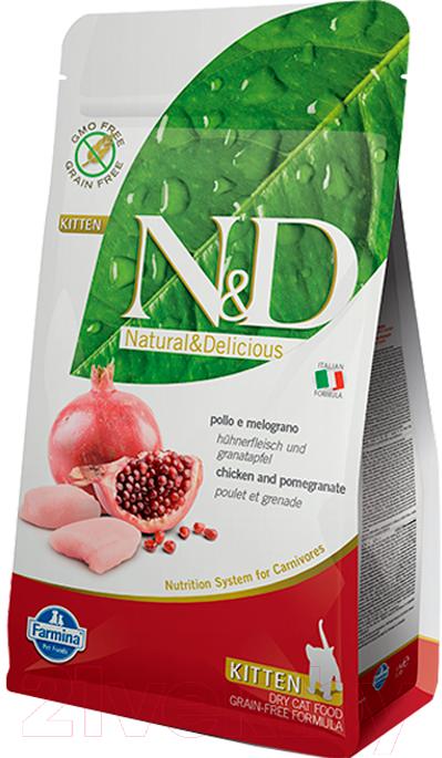 Купить Корм для кошек Farmina, N&D Grain Free Chicken & Pomegranate Kitten (1.5кг), Италия