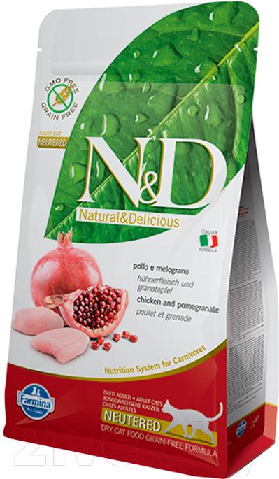 Купить Корм для кошек Farmina, N&D Grain Free Cat Chicken & Pomegranate Neutered (5кг), Италия