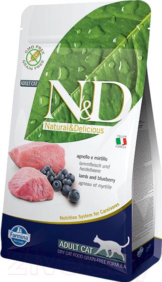 Купить Корм для кошек Farmina, N&D Grain Free Lamb & Blueberry Adult (10кг), Италия
