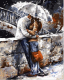 Картина по номерам Picasso В объятьях под дождем (PC4050095) -