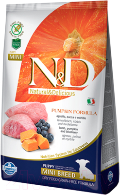 Корм для собак Farmina N&D Grain Free Pumpkin Lamb & Blueberry Puppy Mini (7кг)