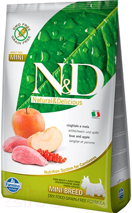 Купить Корм для собак Farmina, N&D Grain Free Boar & Apple Adult Mini (0.8кг), Италия