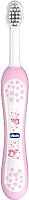 Зубная щетка для новорожденных Chicco С эргономичной ручкой (розовый) -