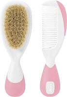 Набор для ухода за волосами детский Chicco С натуральными щетинками (розовый) -