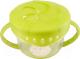 Тарелка для кормления Happy Baby Snack Bow 15021 (лайм, с двумя крышками) -