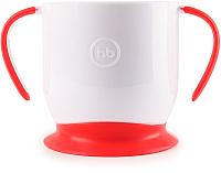 Кружка детская Happy Baby Baby Cup With Suction Base 15022 (красный, на присоске) -